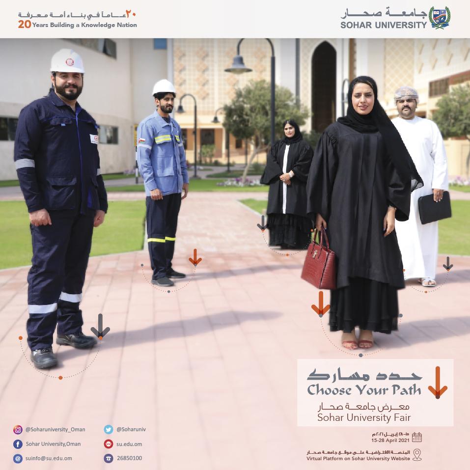 معرض جامعة صحار  (حدد مسارك)                                                           (Choose Your Path) SU Fair's hero image